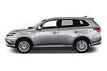 Car Driver side profile view of a 2019 Mitsubishi Outlander-PHEV Intense-4wd 5 Door SUV Side View