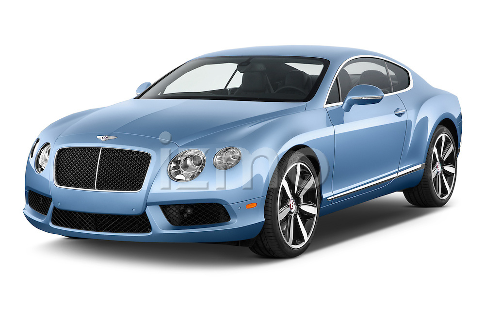 2014 Bentley Continental GT V8 Coupe 2 Door Coupe Angular Front stock photos of front three quarter view