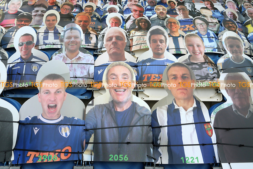 General view of cardboard cut-outs of fans around the ground during Colchester United vs Mansfield Town, Sky Bet EFL League 2 Football at the JobServe Community Stadium on 14th February 2021