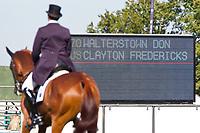 AUS-Clayton Fredericks (WALTERSTOWN DON) 2012 GBR-Land Rover Burghley International Horse Trial: FRIDAY DRESSAGE - INTERIM-(40.80)