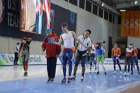 SPEEDSKATING: 12-02-2020, Utah Olympic Oval, ISU World Single Distances Speed Skating Championship, Kosta Poltavets (coach RUS), Sven Kramer (NED), ©Martin de Jong