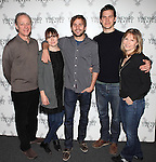 Mark Blum, Liz Stauber, Michael Stahl-David, Tom Lipinski, and Donna Hanover.attending the Meet & Greet the cast & creatives for the Off-Broadway World Premiere of 'PICKED' at the Vineyard Theatre in New York City.