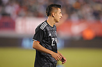 EAST RUTHERFORD, NJ - SEPTEMBER 7: Roberto Alvarado #24 of Mexico during the game during a game between Mexico and USMNT at MetLife Stadium on September 6, 2019 in East Rutherford, New Jersey.