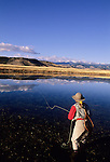 Fly fishing a spring slough in Montana