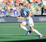 The Hague, Netherlands, June 13: Joaquin Menini #11 of Argentina controls the ball during the field hockey semi-final match (Men) between Australia and Argentina on June 13, 2014 during the World Cup 2014 at Kyocera Stadium in The Hague, Netherlands. Final score 5-1 (3-0)  (Photo by Dirk Markgraf / www.265-images.com) *** Local caption ***