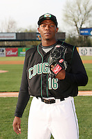 April 11 2010: Jonathan Joseph of the Kane County Cougars at Elfstrom Stadium in Geneva, IL. The Cougars are the Low A affiliate of the Oakland A's. Photo by: Chris Proctor/Four Seam Images