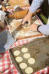 Heritage Days Festival. Union County. Making crackers.