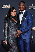 MIAMI, FL - FEBRUARY 1: Shannon Whitehead and Tahir Whitehead attend the 2020 NFL Honors at the Ziff Ballet Opera House during Super Bowl LIV week on February 1, 2020 in Miami, Florida. (Photo by Anthony Behar/Fox Sports/PictureGroup)