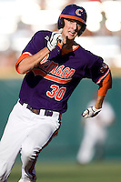 Clemson's Will Lamb runs  in Game 14 of the NCAA Division One Men's College World Series on June 26th, 2010 at Johnny Rosenblatt Stadium in Omaha, Nebraska.  (Photo by Andrew Woolley / Four Seam Images)