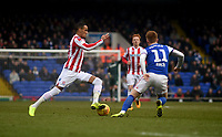 Stoke City's Thomas Ince battles with  Ipswich Town's Jon Nolan<br /> <br /> Photographer Hannah Fountain/CameraSport<br /> <br /> The EFL Sky Bet Championship - Ipswich Town v Stoke City - Saturday 16th February 2019 - Portman Road - Ipswich<br /> <br /> World Copyright © 2019 CameraSport. All rights reserved. 43 Linden Ave. Countesthorpe. Leicester. England. LE8 5PG - Tel: +44 (0) 116 277 4147 - admin@camerasport.com - www.camerasport.com