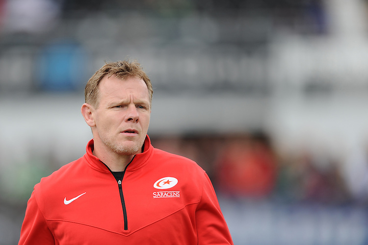 Mark McCall, Saracens Director of Rugby, during the Aviva Premiership semi final match between Saracens and Leicester Tigers at Allianz Park on Saturday 21st May 2016 (Photo: Rob Munro/Stewart Communications)