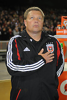 D.C. United Assistant coach Chad Ashton. Sporting Kansas City defeated D.C. United  1-0 at RFK Stadium, Saturday March 10, 2012.