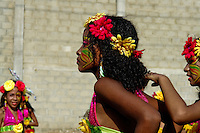 Colombian girls, having their faces colourfully painted, dance during the Carnival in Barranquilla, Colombia, 27 February 2006. The Carnival of Barranquilla is a unique festivity which takes place every year during February or March on the Caribbean coast of Colombia. A colourful mixture of the ancient African tribal dances and the Spanish music influence - cumbia, porro, mapale, puya, congo among others - hit for five days nearly all central streets of Barranquilla. Those traditions kept for centuries by Black African slaves have had the great impact on Colombian culture and Colombian society. In November 2003 the Carnival of Barranquilla was proclaimed as the Masterpiece of the Oral and Intangible Heritage of Humanity by UNESCO.