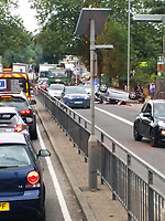2019 07 27 A car toppled over on Church Road in the Northolt area of London, UK