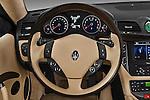 Steering wheel view of a 2010 Maserati Granturismo S Automatic Coupe