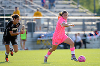 Kendall Fletcher (4) of Sky Blue FC. The Western New York Flash defeated Sky Blue FC 2-0 during a Women's Professional Soccer (WPS) match at Yurcak Field in Piscataway, NJ, on July 17, 2011.