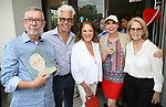 Sam Rudy, Steve Bakunas, Linda Lavin, Julie Halston and Daryl Roth attend the Retirement Celebration for Sam Rudy at Rosie's Theater Kids on July 17, 2019 in New York City.