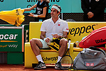 Roger Federer during the Mutua Madrid Open Masters match on day 7 at Caja Magica in Madrid, Spain. May 09, 2019. (ALTERPHOTOS/A. Perez Meca)
