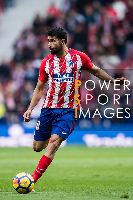 Diego Costa of Atletico de Madrid in action during the La Liga 2017-18 match between Atletico de Madrid and Girona FC at Wanda Metropolitano on 20 January 2018 in Madrid, Spain. Photo by Diego Gonzalez / Power Sport Images