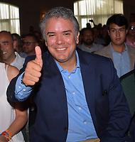 MIAMI, FL - JULY 14: Colombian President Ivan Duque visits Miami on July 2018<br /> <br /> <br /> People: Iván Duque Márquez
