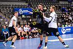 Jannik Kohlbacher (Deutschland #48) ; Henri Hiiend (Estland #28) ; EHF EURO-Qualifikation / EM-Qualifikation / Handball-Laenderspiel: Deutschland - Estland am 02.05.2021 in Stuttgart (PORSCHE Arena), Baden-Wuerttemberg, Deutschland.<br /> <br /> Foto © PIX-Sportfotos *** Foto ist honorarpflichtig! *** Auf Anfrage in hoeherer Qualitaet/Aufloesung. Belegexemplar erbeten. Veroeffentlichung ausschliesslich fuer journalistisch-publizistische Zwecke. For editorial use only.