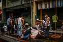 Muslim refugees living in Malaysia celebrate Eid-Adha