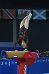 Wales' Elizabeth Beddoe competes in the vault<br /> <br /> Gymnastics artistic - Team final & Individual Qualification <br /> <br /> Photographer Chris Vaughan/Sportingwales<br /> <br /> 20th Commonwealth Games - Day 5 - Monday 28th July 2014 - Gymnastics artistic - The SSE Hydro - Glasgow - UK