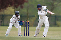 South Woodford claim the second Rainham wicket during Rainham CC (batting) vs South Woodford CC, Hamro Foundation Essex League Cricket at Spring Farm Park on 1st May 2021