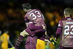 Livingston v St Johnstone…31.10.18…   Tony Macaroni Arena    SPFL<br />Matty Kennedy celebrates his goal with provider Tony Watt<br />Picture by Graeme Hart. <br />Copyright Perthshire Picture Agency<br />Tel: 01738 623350  Mobile: 07990 594431