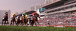 HONG KONG - DECEMBER 12:  Darren Beadman riding 'King al Akbar' wins the Tokyo Handicap race during the Cathay Pacific International Races at the Sha Tin Racecourse on December 12, 2010 in Hong Kong, Hong Kong. Photo by Victor Fraile / The Power of Sport Images