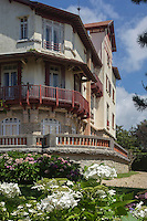 France, Aquitaine, Pyrénées-Atlantiques, Pays Basque, Biarritz : La Villa Natacha, dans le quartier Saint-Martin //  France, Pyrenees Atlantiques, Basque Country, Biarritz:  Villa Natacha,   Saint-Martin distric