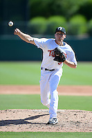 Glendale Desert Dogs pitcher Alex Meyer (51), of the Minnesota Twins organization, during an Arizona Fall League game against the Mesa Solar Sox on October 8, 2013 at Camelback Ranch Stadium in Glendale, Arizona.  The game ended in an 8-8 tie after 11 innings.  (Mike Janes/Four Seam Images)