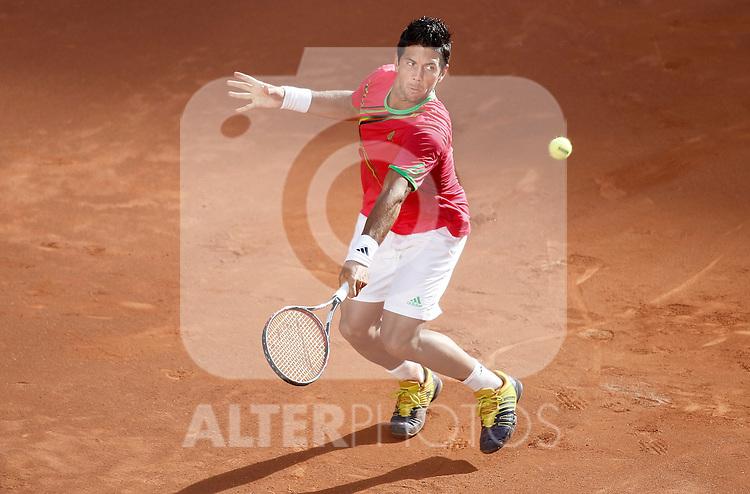 Fernando Verdasco during Madrid Open Tennis tournament Match. May 03, 2011. (ALTERPHOTOS/Alvaro Hernandez)