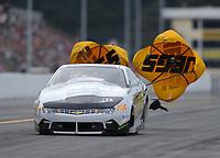 Sep 13, 2019; Mohnton, PA, USA; NHRA pro stock driver Alex Laughlin during the Reading Nationals at Maple Grove Raceway. Mandatory Credit: Mark J. Rebilas-USA TODAY Sports