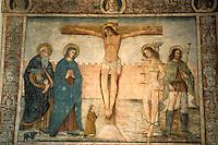 Europe/France/Corse/2B/Haute-Corse/Balagne/Calvi: La citadelle - L'oratoire Sant'Antonio - Détail fresque representant le Christ