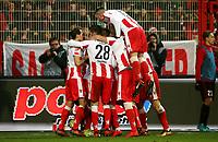 Steven Skrzybski 1:0,  celebration   1:0  / Sport / Football /   2.Bundesliga  DFL /  2017/2018 / 15.12.2017 / 1.FC Union Berlin FCU vs. FC Ingolstadt FCI Schanzer 171215012 /      <br />     *** Local Caption *** © pixathlon<br /> Contact: +49-40-22 63 02 60 , info@pixathlon.de