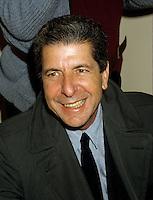 FILE PHOTO : Leonard Cohen<br /> circa 1987<br /> PHOTO : Pierre Roussel - Agence Quebec presse
