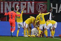 celebrate the goal, Torjubel zum 0:1 um Ianis Hagi (Rumänien Romania) - Hamburg 08.10.2021: Deutschland vs. Rumänien, Volksparkstadion Hamburg