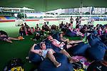The players' zone during GFI HKFC Rugby Tens 2016 on 06 April 2016 at Hong Kong Football Club in Hong Kong, China. Photo by Juan Manuel Serrano / Power Sport Images