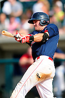 Lowell Spinners first baseman Tucker Tubbs (33) during  a game versus the Mahoning Valley Scrappers at Lelacheur Park on July 12, 2015 in Lowell, Massachusetts. (Ken Babbitt/Four Seam Images)