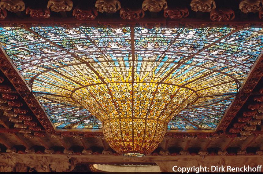 Palau de la Musica Catalana, Barcelona, Katalonien, Spanien, Unesco-Weltkulturerbe