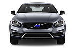 Car photography straight front view of a 2017 Volvo S60 T5 Platinum 4 Door Sedan