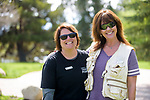 Terra Maddox and Jill Mustacchio attend the Casting for Recovery fishing clinic at Bently Ranch in Gardnerville, Nev. May 4, 2018.<br /> Photo by Candice Vivien/Nevada Momentum