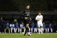 WINSTON-SALEM, NC - DECEMBER 01: Nico Benalcazar #23 of Wake Forest University plays the ball during a game between Michigan and Wake Forest at W. Dennie Spry Stadium on December 01, 2019 in Winston-Salem, North Carolina.