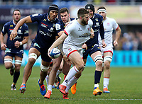 11 January 2020; Stuart McCloskey of Ulster in action is tackled by Arthur Iturria and Damian Penaud of Clermont during the Heineken Champions Cup Pool 3 Round 5 match between ASM Clermont Auvergne and Ulster at Stade Marcel-Michelin in Clermont-Ferrand, France. Photo by John Dickson/DICKSONDIGITAL