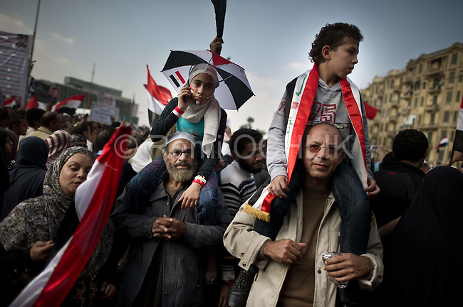 """Remi OCHLIK/IP3 -  Thousands of Egyptians perform Friday prayers during a rally in Tahrir Square in Cairo, Egypt, Friday, Nov. 25, 2011. Tens of thousands of protesters chanting, """"Leave, leave!"""" are rapidly filling up Cairo's Tahrir Square in what promises to be a massive demonstration to force Egypt's ruling military council to yield power. The Friday rally is dubbed by organizers as """"The Last Chance Million-Man Protest,"""" and comes one day after the military offered an apology for the killing of nearly 40 protesters in clashes on side streets near Tahrir over the last week"""