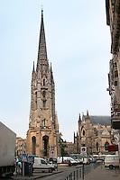 Tower and church Eglise Saint Michel. Bordeaux city, Aquitaine, Gironde, France