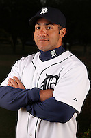 February 27, 2010:  Strength Coach Javair Gillett of the Detroit Tigers poses for a photo during media day at Joker Marchant Stadium in Lakeland, FL.  Photo By Mike Janes/Four Seam Images