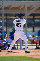 Detroit Tigers Jordan Pearce (45) during a Minor League Spring Training game against the Toronto Blue Jays on March 22, 2019 at the TigerTown Complex in Lakeland, Florida.  (Mike Janes/Four Seam Images)