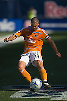 Houston Dynamo defender Wade Barrett (24). The New York Red Bulls defeated the Houston Dynamo 3-0 during a Major League Soccer match at Giants Stadium in East Rutherford, NJ, on August 24, 2008.